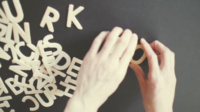 work spelled in wooden alphabet - spelling stock videos & royalty-free footage
