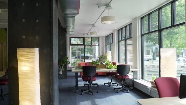 Work stations in open plan office.