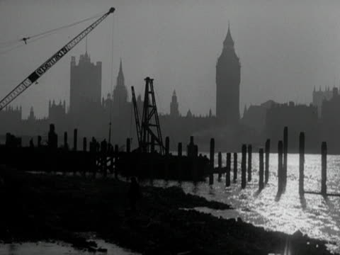 work takes place on the festival of britain building site on the south bank of the thames - festival of britain stock videos & royalty-free footage