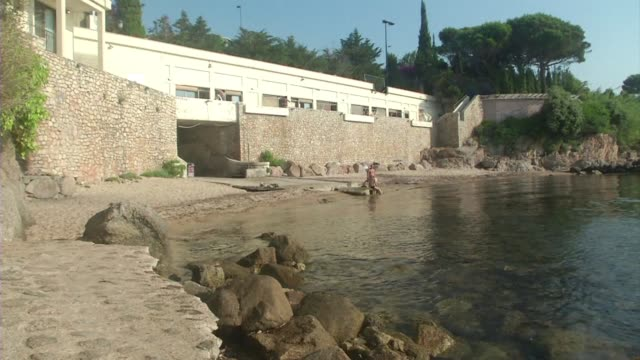 work to close a public beach in the town of vallauris in southwest france was interrupted this week at the request of the local council which is... - request stock videos & royalty-free footage
