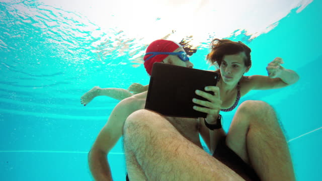 workaholic man underwater: come up! - sleep apnea stock videos and b-roll footage