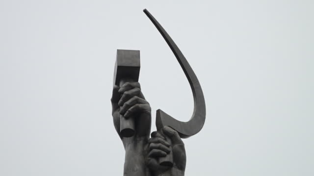 worker and kolkhoz woman - sickle stock videos & royalty-free footage