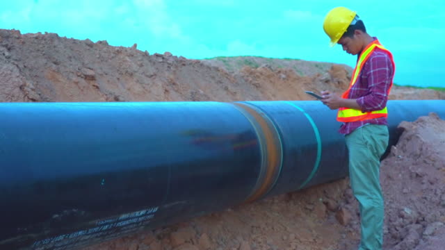 worker and pipelines - pipeline stock videos & royalty-free footage