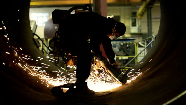 worker grinding - metal industry stock videos & royalty-free footage