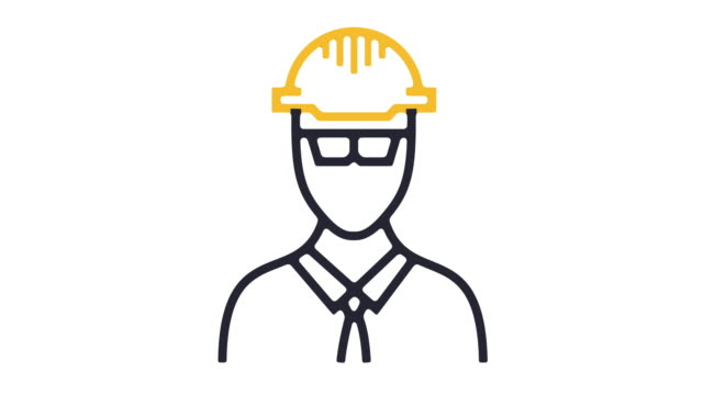 worker icon animation - occupational safety and health stock videos and b-roll footage