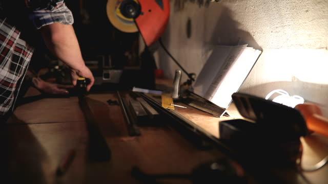 Worker in his workshop