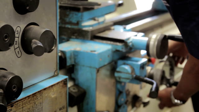 worker on a lathe machine - food and drink stock videos & royalty-free footage