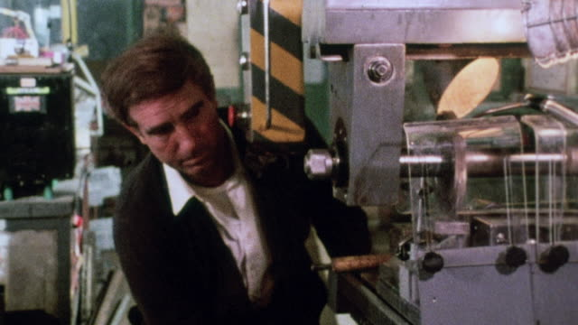 montage worker operating factory machinery / united kingdom - 1980 stock videos and b-roll footage