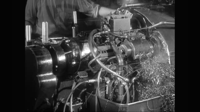 ms worker operating machinery, metal shavings / united states - metal worker stock videos and b-roll footage