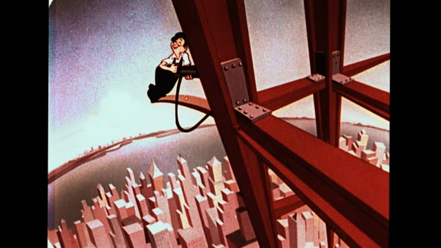 worker rivets on high building or bridge - whistling stock videos & royalty-free footage
