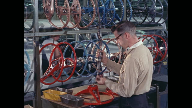 ms worker working in car plant / united states - 1960 stock videos & royalty-free footage