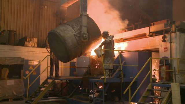 ws worker working in foundry / siegen, north-rhine westphalia, germany - foundry worker stock videos and b-roll footage