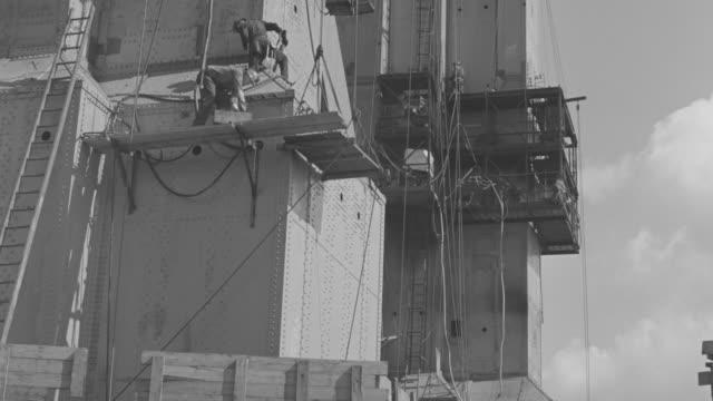 MS Worker working on golden gate bridge under construction
