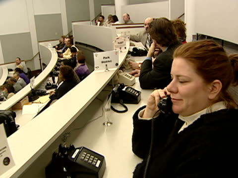 WGN Workers answer 911 calls at the 911 Call Center in Chicago on March 19 2003