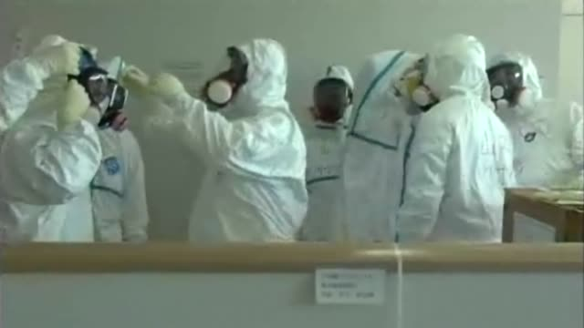 workers briefly entered a reactor building at japan's stricken fukushima nuclear power plant wednesday to measure radiation levels and check for... - nuclear reactor stock videos & royalty-free footage