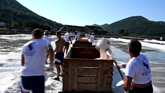 HRV: Traditional salt harvest from Croatia's Adriatic sea