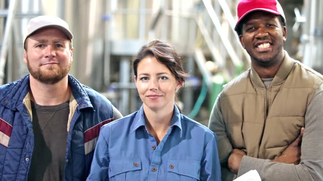 Workers in a micro brewery