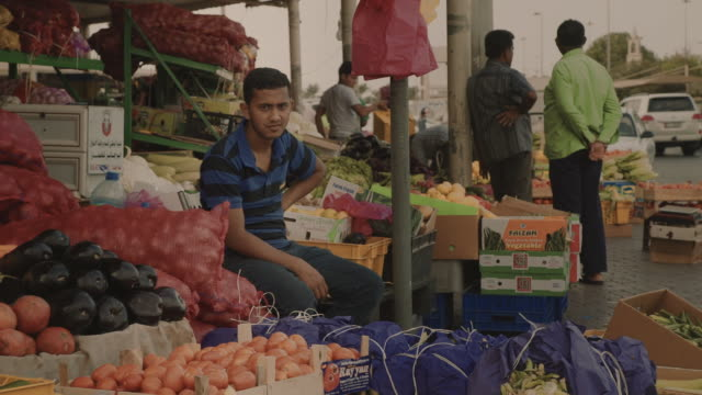 workers in outdoor port and market - middle east stock videos & royalty-free footage