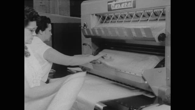 1960 workers make copies of census maps at the census bureau - machinery stock videos & royalty-free footage