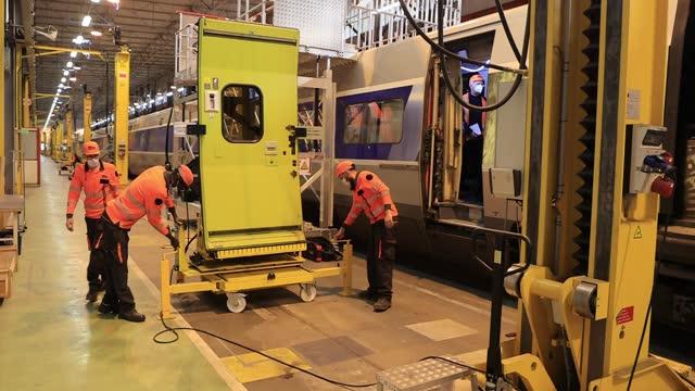 FRA: SNCF Renovation Of TGV Atlantique Trains In France