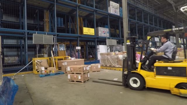 Workers of Korean Air working at the company's cargo terminal in Incheon International Airport sometimes referred to as Seoul–Incheon International...