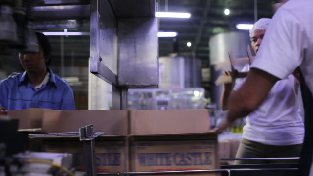 workers packaging bottles of alcohol at destileria limtuaco factory manila national capital region philippines on tuesday july 16 2019 - capital region stock videos and b-roll footage