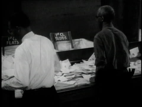 1957 ms workers sorting letters / united states - 1957 stock videos & royalty-free footage