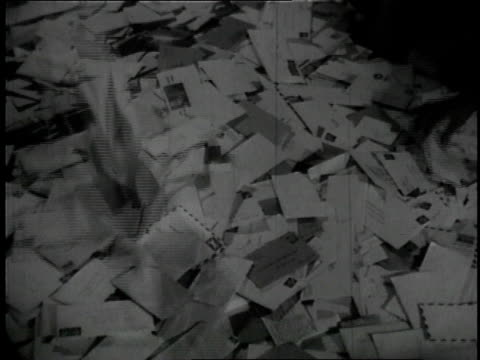 1957 ms workers sorting letters / united states - message stock videos & royalty-free footage