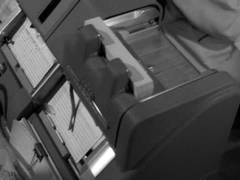 workers use tabulated punch card machines - punch card stock videos & royalty-free footage