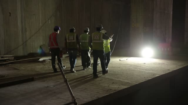 workers work with steel at the construction site of majestic metro station developed by bangalore metro rail corp in bengaluru india on saturday may... - metal blend stock videos and b-roll footage