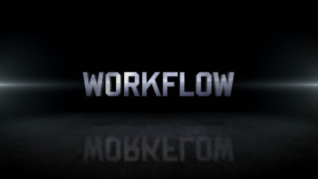 workflow word 4k business digital technology concept stock video - flow chart stock videos & royalty-free footage