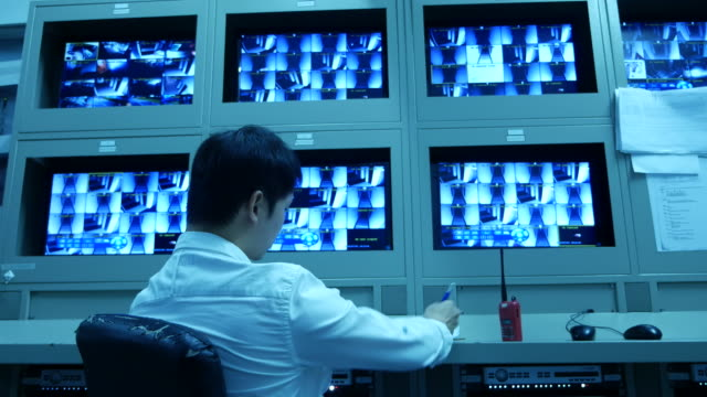 MAN Working at CCTV system