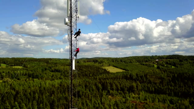 working at height - pole stock videos & royalty-free footage