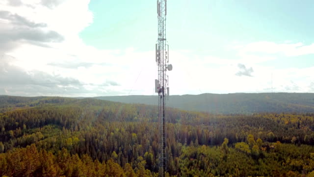 working at height - antenna aerial stock videos & royalty-free footage