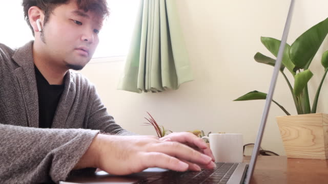 working at home office - shirt stock videos & royalty-free footage