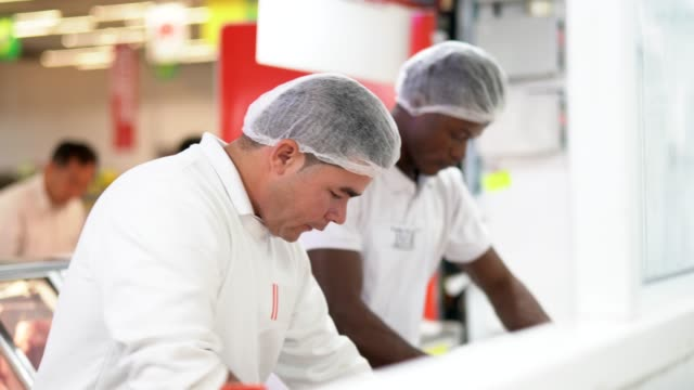working at the butchery - food processing plant stock videos and b-roll footage