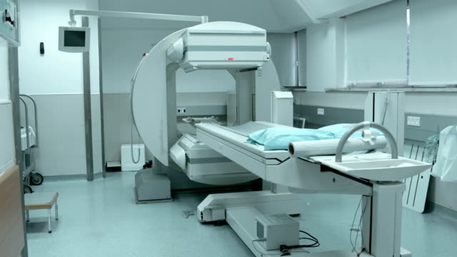 Working CAT scan in hospital