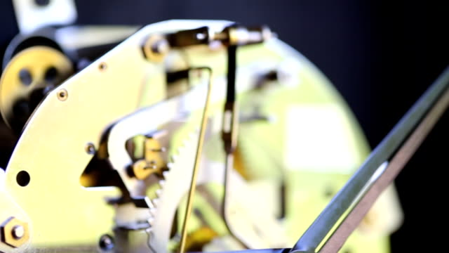 working clock mechanism ,dolly shot - clockworks stock videos & royalty-free footage