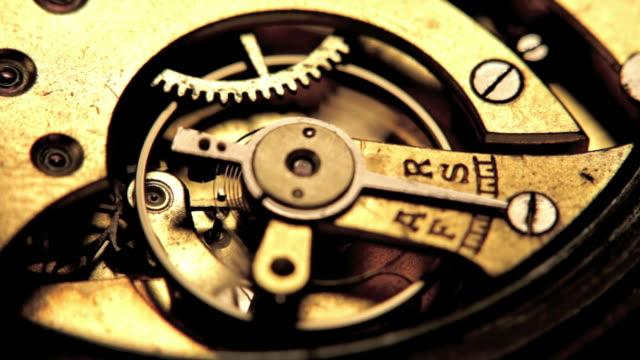 working clock mechanism. - clockworks stock videos & royalty-free footage
