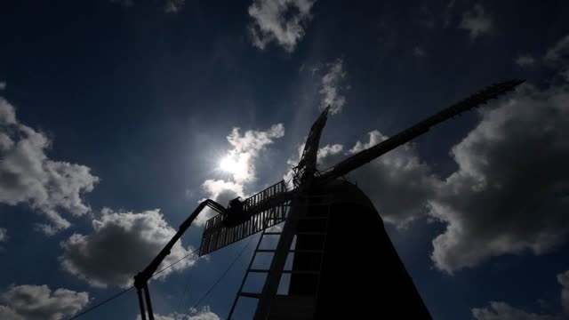 A working corn windmill described by a millwright as the only one of its type in the UK has had a new sail fitted as part of a maintenance project...