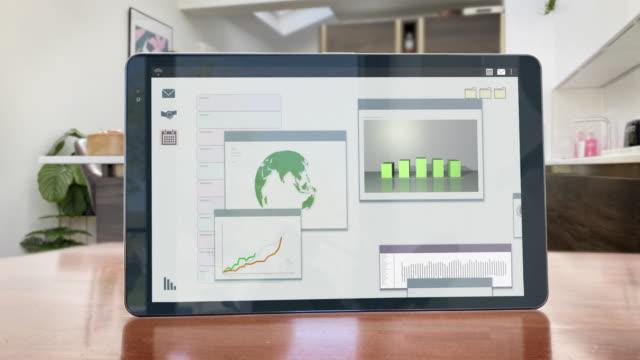 lavorare da casa - schermo animato della giornata produttiva - group of objects video stock e b–roll