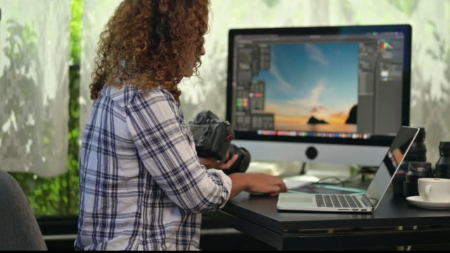 working from home - editor stock videos & royalty-free footage