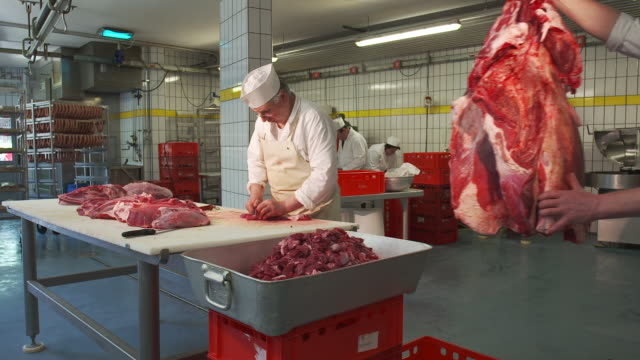 Working in a butcher