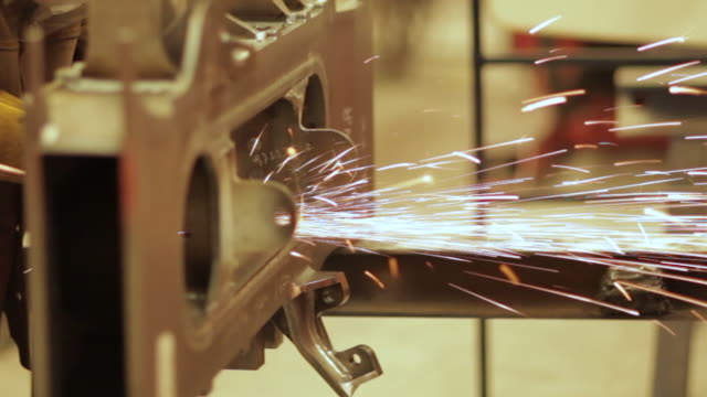working in a manufacturing plant - steel stock videos & royalty-free footage