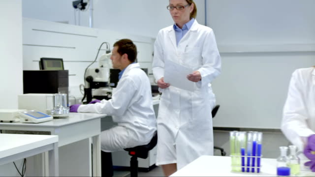 WS DS Working In The Laboratory