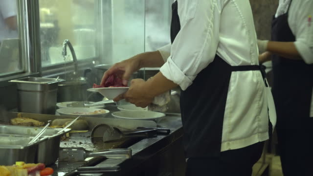 working kitchen - restaurant stock videos & royalty-free footage