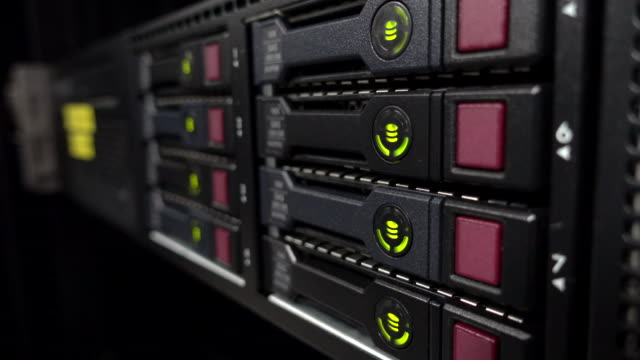 working led on data servers - rack stock videos & royalty-free footage