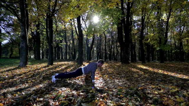 working out in the nature - bodyweight training stock videos & royalty-free footage