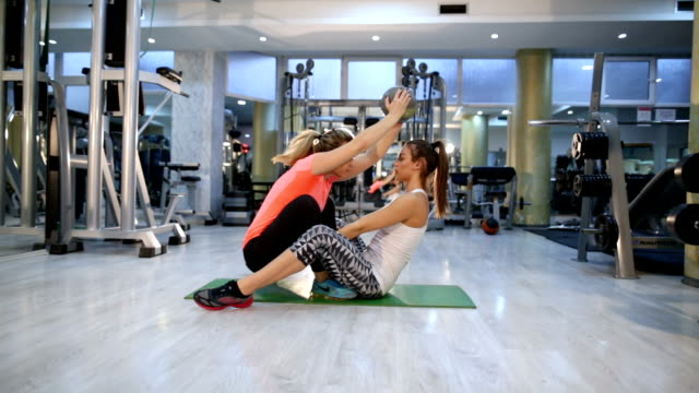 Working Out Together Cheerfully