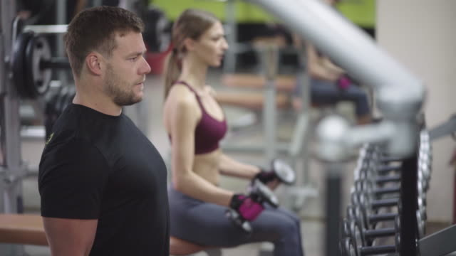 working out together - setting stock videos & royalty-free footage